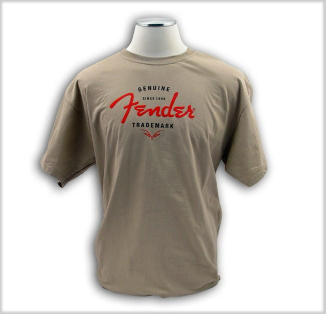 <p>910-1009-321 - Fender&amp;<br>174;Genuine Trademark T-Shirt (GENUINE TRADEMARK TEE, SAND S)<br /></p>