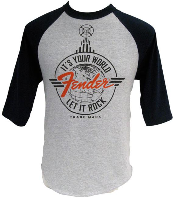 <p>911-0004-443 - Fender&amp;<br>174; Let it Rock Baseball T-Shirt Grey / Navy M<br /></p>