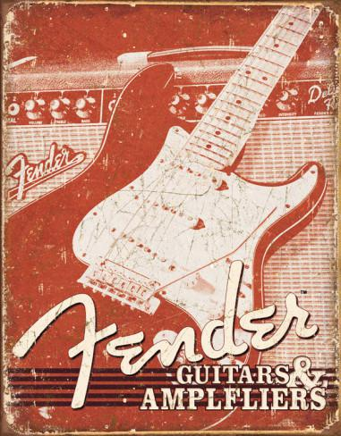 <p>099-9548-000 - Fender&amp;<br>174; Weathered Tin Sign<br /></p>