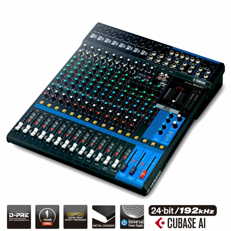16 Channel Mixer with Effects
