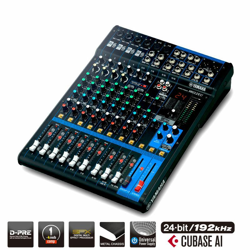 12 Channel Mixer with Effects