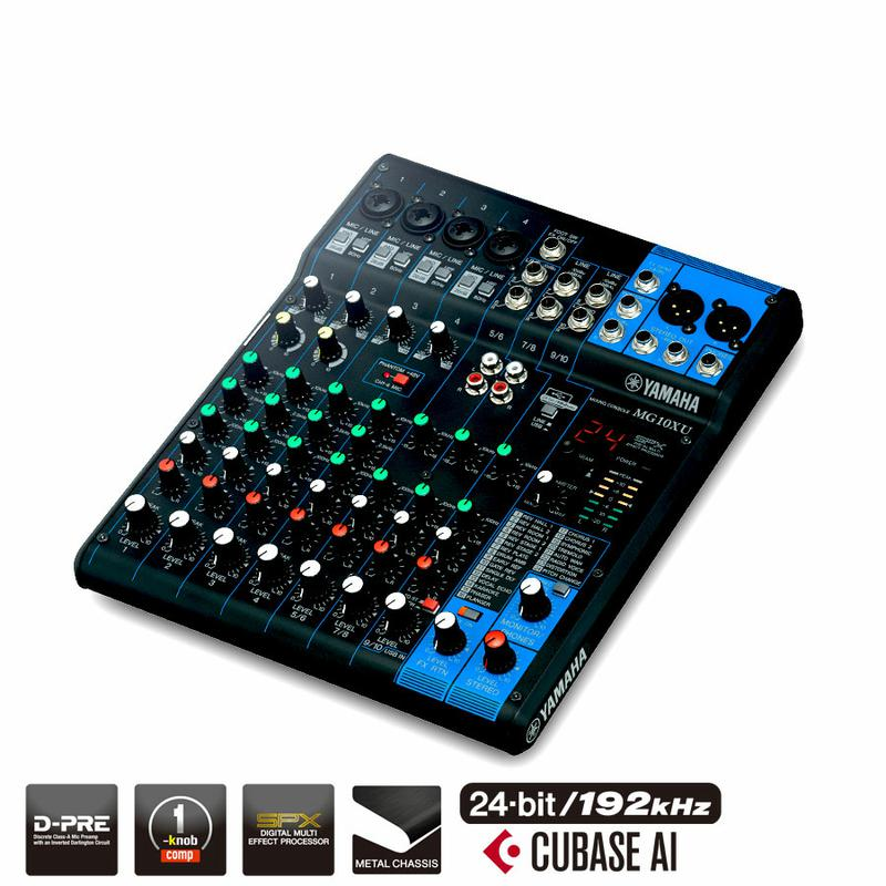 <p>MG10XU - 10 Channel Mixer with Effects, USB &amp; Compressor<br /></p>