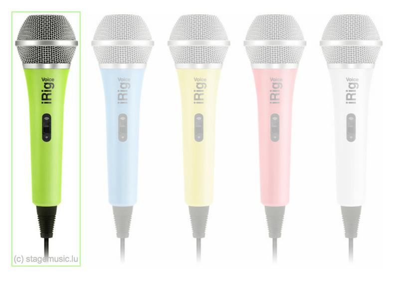 Handheld Microphone for iOS and Android devices #Green