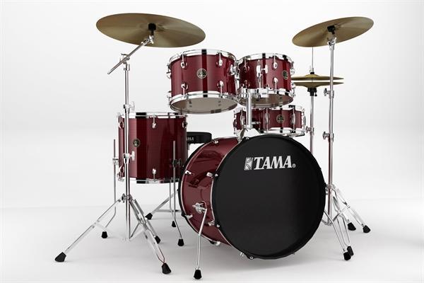 "RHYTHM MATE 20 "" Drum Kit 5 piece HW Red Stream"