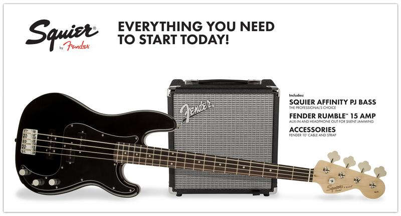 <p>030-1972-606 - Squier&amp;<br>174; Affinity Series&amp;<br>8482; PJ Bass Pack - Black<br /></p>