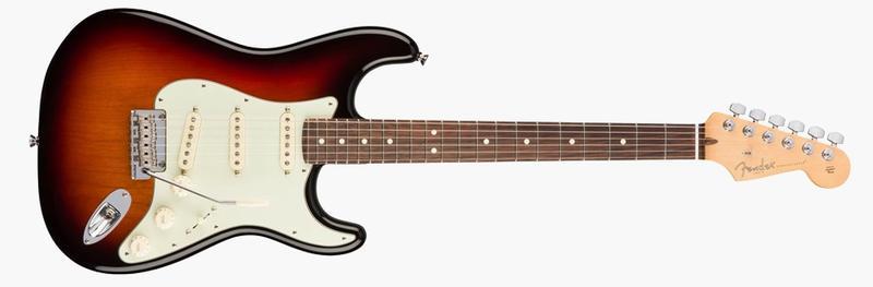 <p>011-3010-700 - American Pro Stratocaster&amp;<br>174;, Pau Ferro Fingerboard, 3-Color Sunburst<br /></p>