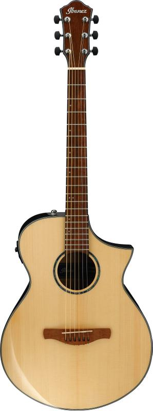 6-string Acoustic-Electric Guitar with Solid Spruce Top - Natural Browned Burst High Gloss