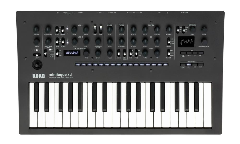 <p>Minilogue XD - Korg Minilogue xd polyphonic analogue Synthesizer<br />(available march 2019)<br /></p>