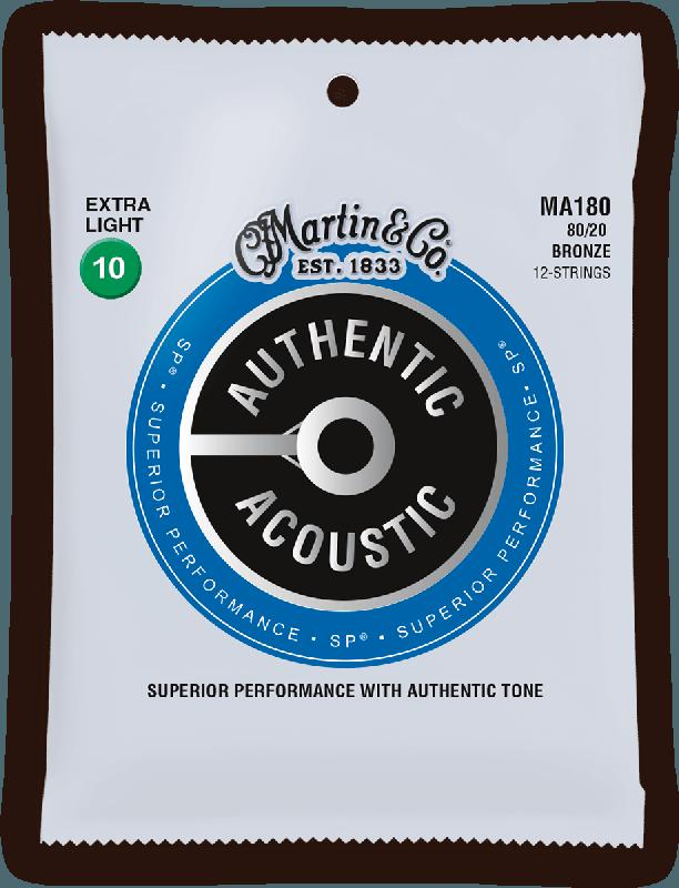 (12string) Acoustic Strings SP 80/20 Bronze - Authentic, Extra Light, 80/20