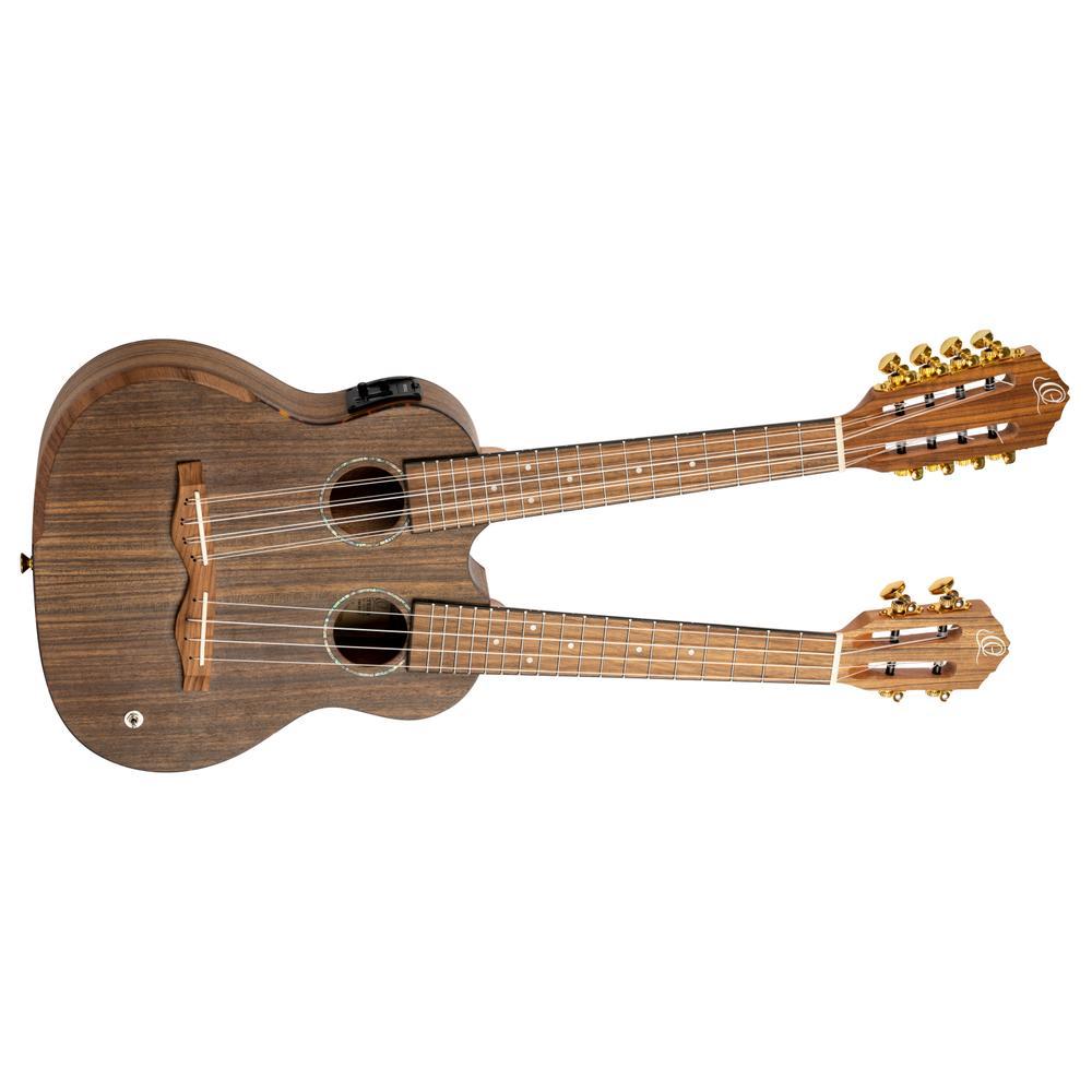 <p>HYDRA - Double Neck Custom E-Acoustic 4/8 String Tenor Ukulele <br /></p>