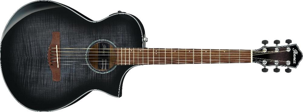 6-string E-Acoustic Guitar with Maple Top and Fishman Electronics - Transparent Black Sunburst High Gloss ( available May )