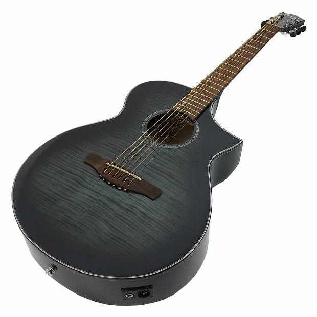 6-string E-Acoustic Guitar with Maple Top and Fishman Electronics - Transparent Black Sunburst High Gloss ( available February )