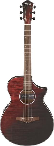 AEWC32FM Thinline Electro-Acoustic Guitar - Red Sunset Fade