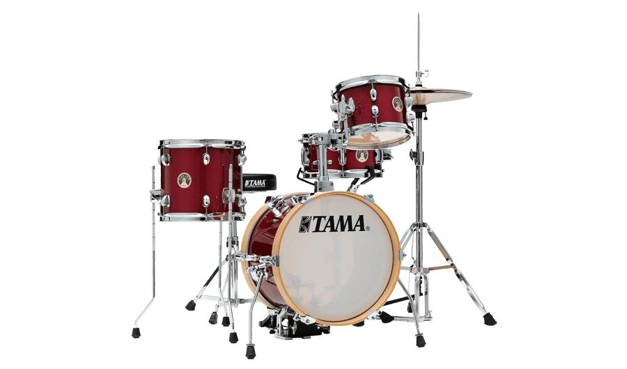 Club-Jam Flyer 4PC Drum Kit included Hardware Kit - Candy Apple Mist
