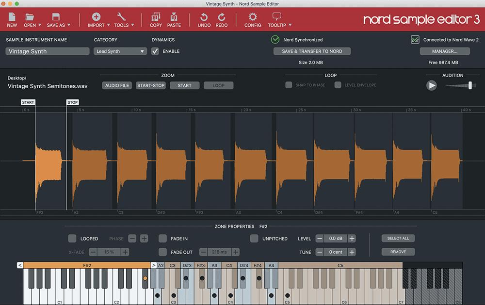 Nord Wave 4-part performance synthesizer