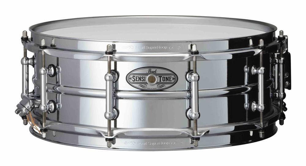 14x5 Sensitone Beaded Steel Snare Drum W/SR-150, TB-50 (chrome)