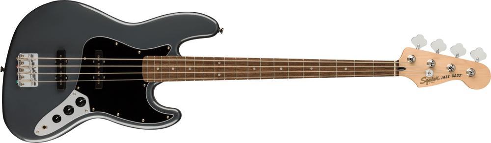 Affinity Series™ Jazz Bass®, Laurel Fingerboard, Black Pickguard, Charcoal Frost Metallic